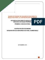 Bases ADS-0042-2015 Sensores de Nivel Sumergible