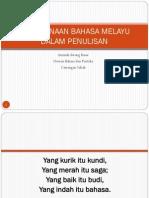 Penggunaan Bahasa Melayu Berkesan Dlm Penulisan