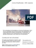 Sociedades Por Acciones Simplificadas - SAS_ Aspectos Relevantes _ Actualidad - Actualicese