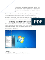 Notes on Excel 2010