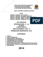 Syllabus Introd.clinica 2014 Oficial