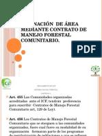 Asignación de Área Mediante Contrato de Ma Nejo Forestal