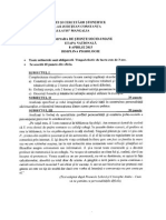 2015 Psihologie Nationala Clasa a Xa Subiectebarem