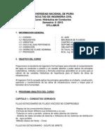 Syllabus Hidráulica de Conductos 2015 II