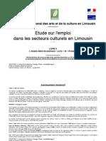 Etude sur l'emploi dans les secteurs « Livre » et « Presse » en Limousin