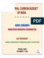 Carbon Budget of India