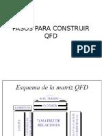 3 Pasos QFD Casa de La Calidad