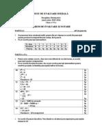 Test de Evaluare Iniţială Vi- Barem