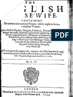 The English Housewife - Vertues in a Complete Woman - G M 1649