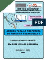 Anexos de La Propuesta de Práctica Pedagógica 2 Rode Huillca 2015