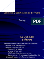 Testing software