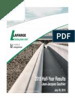 Press Finance-lafarge q2 2015 Analyst Presentation-uk
