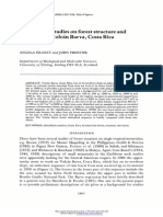 Preliminary studies on forest structure