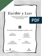 I-ESCRIBIR Y LEER. de Cómo Los Niños Aprenden a Escribir y Leer I. EDELVIVES