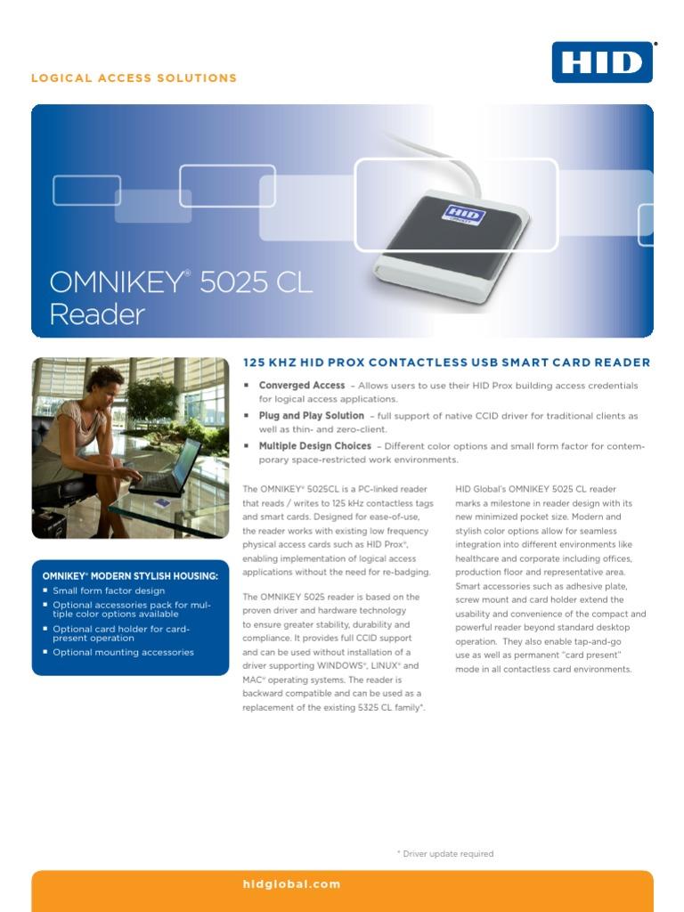 Omnikey 5025 Cl Reader Ds En   Usb   Electronic Engineering