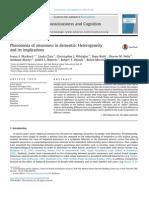 Phenomena of Awareness in Dementia Heterogeneity