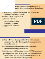 A Computer Software Also Called Program Or