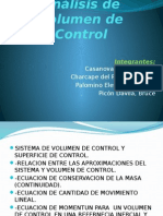 Análisis de Volumen de Control