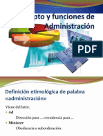 Concepto y Funciones de Administración 2015