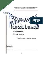 Proyecto de Investigación - Diseño Básico de Un Ascensor - Copia