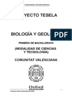 Programacion Tesela Biologia y Geologia 1 BACH Comunitat Valenciana