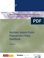 Northern Ireland Public Procurement Policy Handbook - 27 January 2010