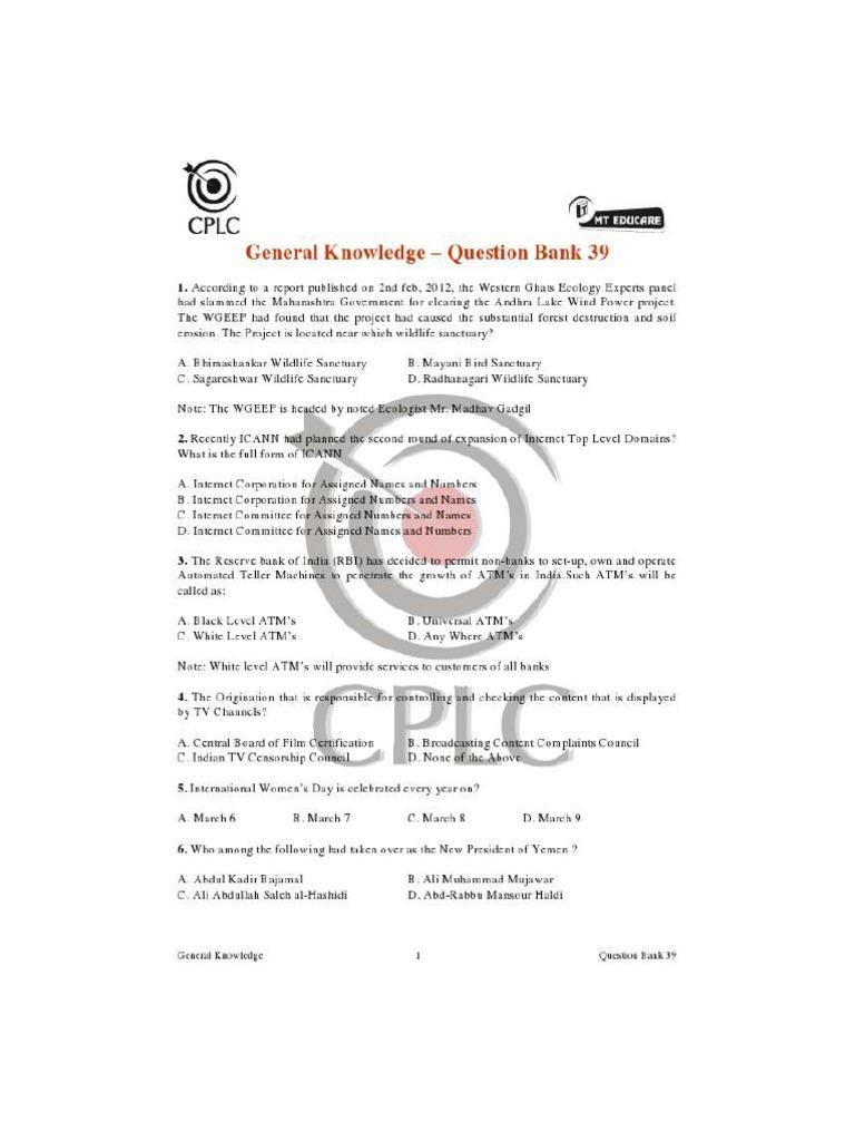 Test - 39 pdf | Automated Teller Machine | Transport