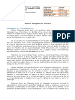 Analisis de La Pelicula INVICTUS (Luis y Hanns Ale)