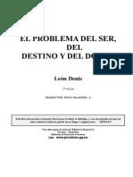 [Denis Leon] El Problema Del Ser Del Destino Y Del