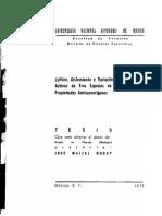 cultivo, aislamiento y variacion de principios activos de tres especies con propiedades anticancerigenas.