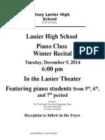 2014 Winter Piano Program