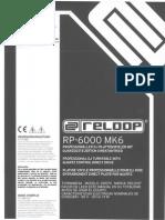 Manual de usuario reloop RP-6000_MK6
