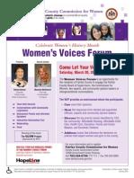 Women's Voices Forum