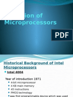Evolution of MicroProcessor