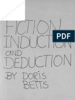 BETTS, Doris. Fiction, Induction and Deduction