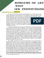 FELDMAN, Edmund B. Some Problems of Art Instruction in Higher Institutions