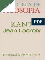 Lacroix, Jean - Kant