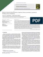 Características Físico-químicas de Albaricoque