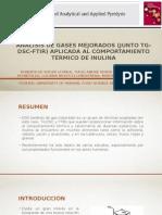 Análisis de Gases Mejorados (Junto TG-DSC-FTIR)