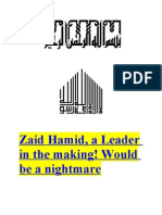 Zaid Hamid, A Leader in the Making! Would Be a Nightmare