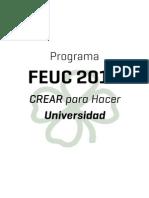 Programa NAU! FEUC 2016