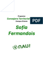 Programa Sofía Fermandois - Oriente