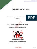 Konsep Penambangan Nickel Ore 60,000 MT - Ls