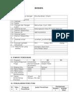 Biodata Untuk Lppm