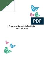 Programa Consejería Territorial 2016