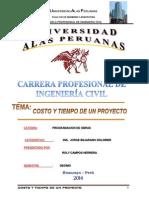 Informe Final de Costos y Tiempo de Un Proyecto