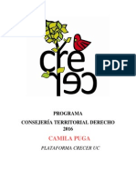 Programa Consejería Territorial Derecho - Camila Puga- Crecer UC
