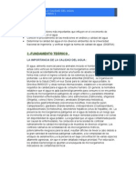 Determinacion de La Calidad Del Agua-Informe 3