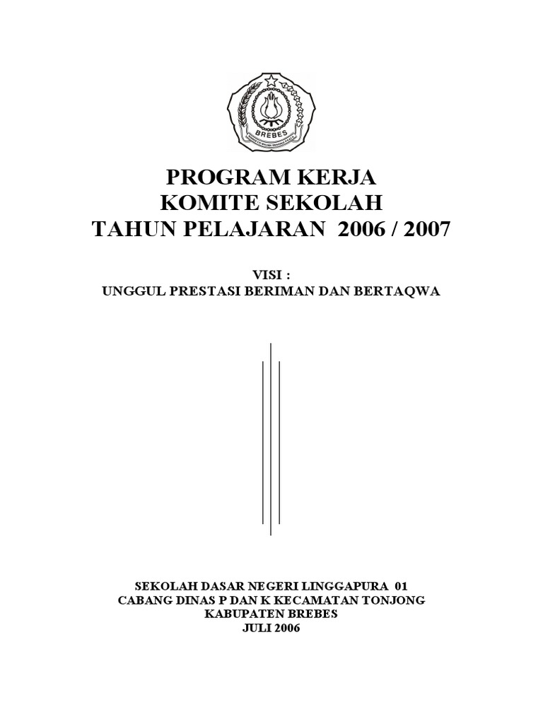 Program Kerja Komite