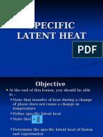 Specific Latent Heat